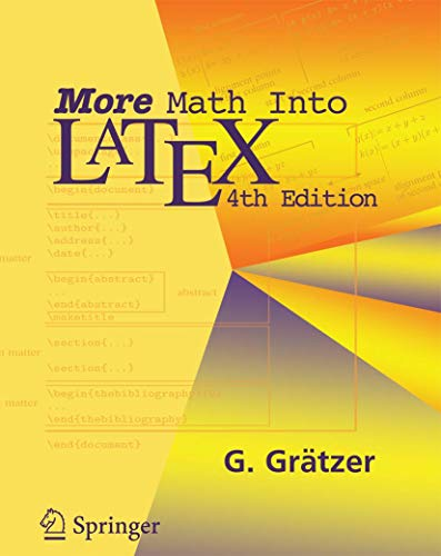 9780387322896: More Math Into LATEX