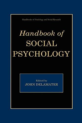 9780387325156: Handbook of Social Psychology (Handbooks of Sociology and Social Research)