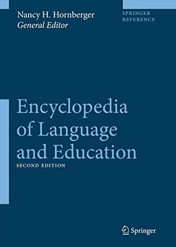 ENCYCLOPEDIA OF LANGUAGE AND EDUCATION, 10 VOLUMES SET, 2ND EDITION: HORNBERGER NANCY H. ET.AL