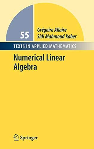 9780387341590: Numerical Linear Algebra