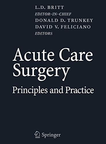 9780387344706: Acute Care Surgery: Principles and Practice