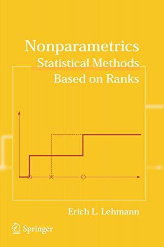 9780387352121: Nonparametrics: Statistical Methods Based on Ranks