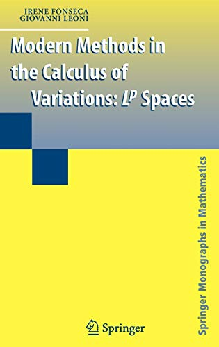 9780387357843: Modern Methods in the Calculus of Variations: L^p Spaces (Springer Monographs in Mathematics)