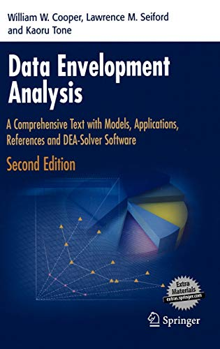 9780387452814: Data Envelopment Analysis: A Comprehensive Text with Models, Applications, References and DEA-Solver Software