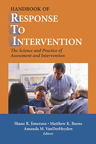 9780387490526: Handbook of Response to Intervention: The Science and Practice of Assessment and Intervention