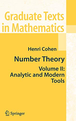 9780387498935: Number Theory: Analytic and Modern Tools: 2