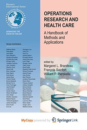 9780387522258: Operations Research and Health Care: A Handbook of Methods and Applications