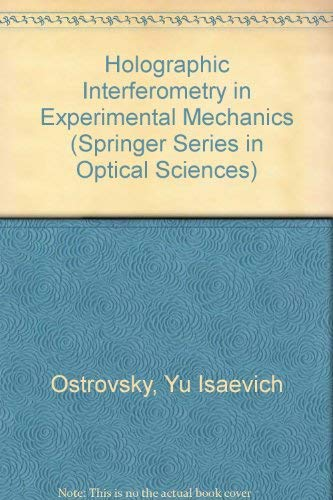9780387526041: Holographic Interferometry in Experimental Mechanics (Springer Series in Optical Sciences)