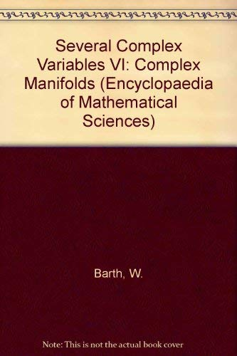 9780387527888: Several Complex Variables VI: Complex Manifolds (Encyclopaedia of Mathematical Sciences)