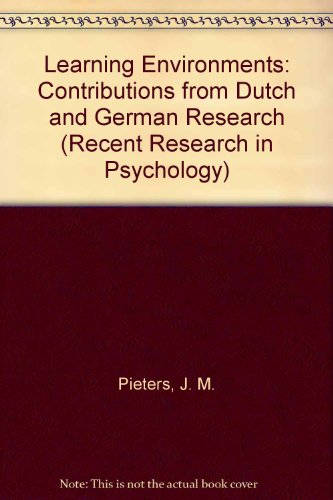 9780387529035: Learning Environments: Contributions from Dutch and German Research (Recent Research in Psychology)