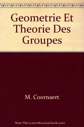 9780387529776: Geometrie Et Theorie Des Groupes (Lecture Notes in Physics)