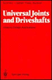 9780387533148: Universal Joints and Driveshafts: Analysis, Design, Applications