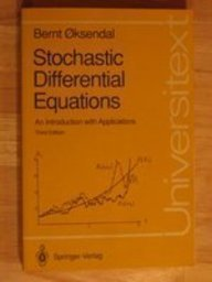 9780387533353: Stochastic Differential Equations: An Introduction With Applications (Universitext)
