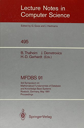 MFDBS 91: 3rd Symposium on Mathematical Fundamentals of Database and Knowledge Base Systems, ...