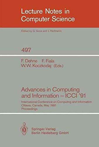 Advances in Computing and Information - ICCI '91: International Conference on Computing and ...