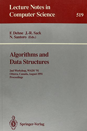 9780387543437: Algorithms and Data Structures: 2nd Workshop Wads '91, Ottawa, Canada, Aug 14-16 1991 (Lecture Notes in Computer Science)