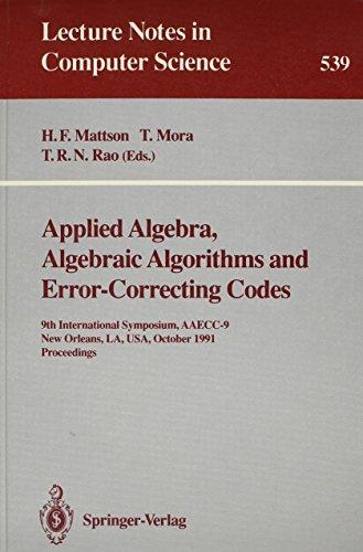 Applied Algebra, Algebraic Algorithms and Error-Correcting Codes: 9th International Symposium, ...