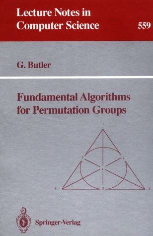 9780387549552: Fundamental Algorithms for Permutation Groups (Lecture Notes in Computer Science)