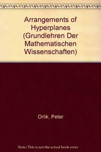 9780387552590: Arrangements of Hyperplanes (Grundlehren Der Mathematischen Wissenschaften)