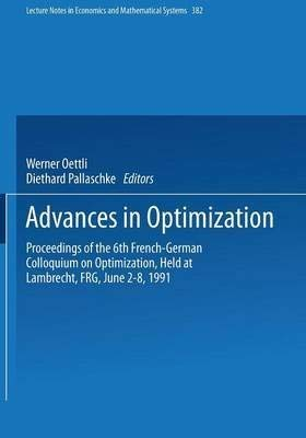 Advances in Optimization: Proceedings (Lecture Notes in: Oettli, W.