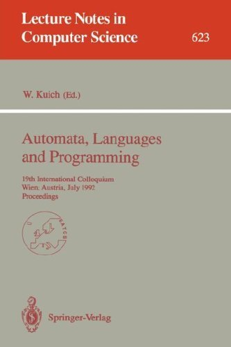 Automata, Languages and Programming: 19th International Colloquium, Wien, Austria, July 13-17, 1992...
