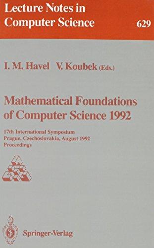 Mathematical Foundations of Computer Science 1992: 17th International Symposium, Prague, ...