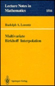 9780387558707: Multivariate Birkhoff Interpolation (Lecture Notes in Mathematics)
