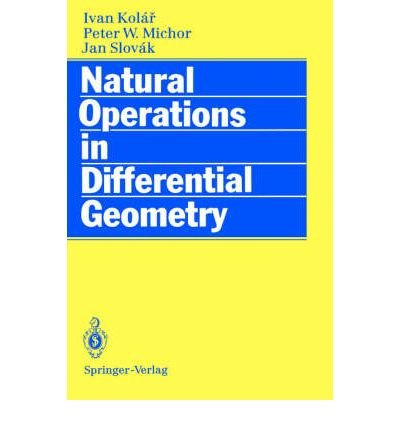 9780387562353: Natural Operators in Differential Geometry