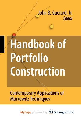 9780387569031: Handbook of Portfolio Construction: Contemporary Applications of Markowitz Techniques