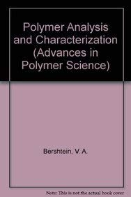 9780387572383: Polymer Analysis and Characterization (Advances in Polymer Science)