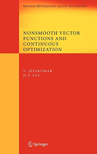 9780387737164: Nonsmooth Vector Functions and Continuous Optimization (Springer Optimization and Its Applications)