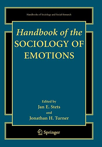 9780387739915: Handbook of the Sociology of Emotions