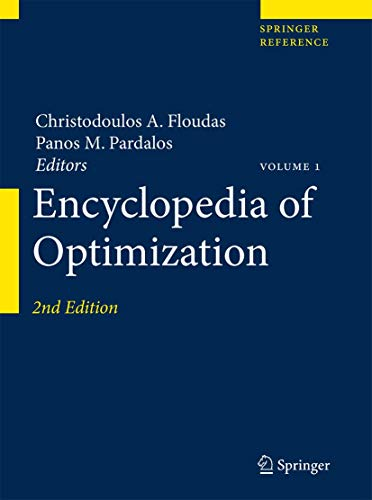 9780387747583: Encyclopedia of Optimization (Springer Reference)
