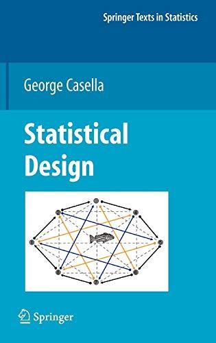 9780387759647: Statistical Design (Springer Texts in Statistics)