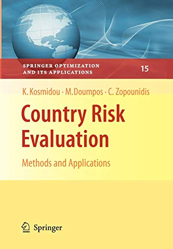 9780387766799: Country Risk Evaluation: Methods and Applications (Springer Optimization and Its Applications)