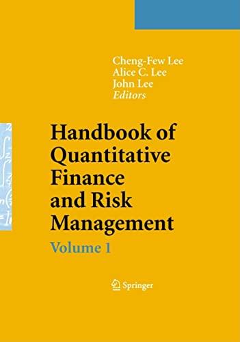 9780387771168: Handbook of Quantitative Finance and Risk Management (v. 1-3)