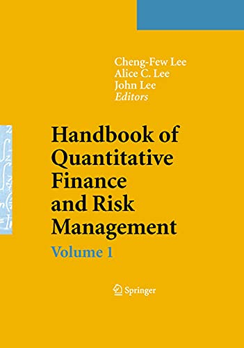 9780387771175: Handbook of Quantitative Finance and Risk Management