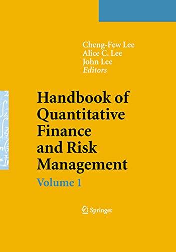 9780387771175: Handbook of Quantitative Finance and Risk Management