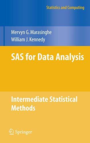 SAS for Data Analysis: Marasinghe, Mervyn G./Kennedy, William J.