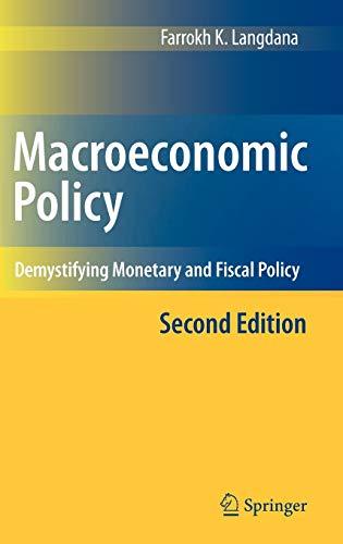 Macroeconomic Policy: Demystifying Monetary and Fiscal Policy: Langdana, Farrokh