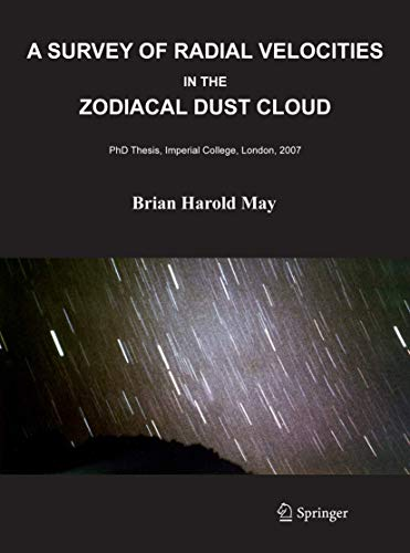 9780387777054: A Survey of Radial Velocities in the Zodiacal Dust Cloud