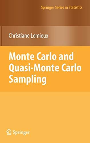 9780387781648: Monte Carlo and Quasi-Monte Carlo Sampling (Springer Series in Statistics)