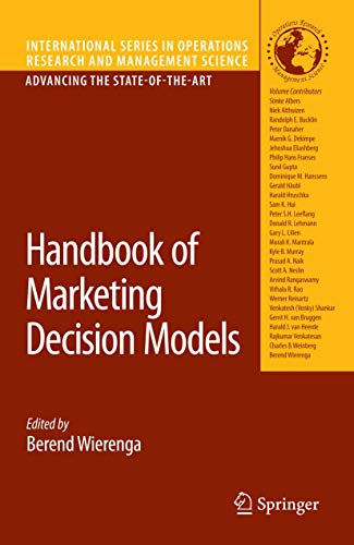 9780387782126: Handbook of Marketing Decision Models (International Series in Operations Research & Management Science)