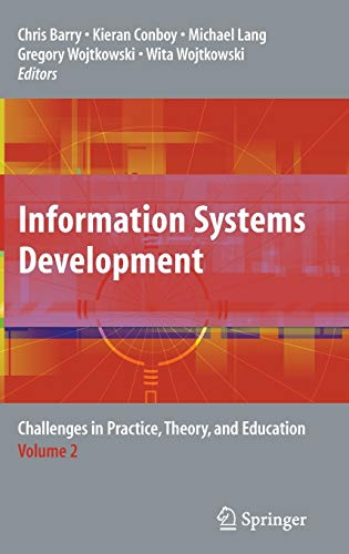 9780387785776: Information Systems Development: Challenges in Practice, Theory, and Education Volume 2