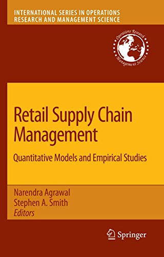 9780387789026: Retail Supply Chain Management: Quantitative Models and Empirical Studies