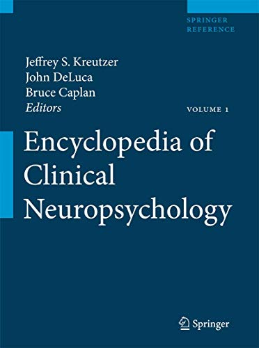 9780387799476: Encyclopedia of Clinical Neuropsychology