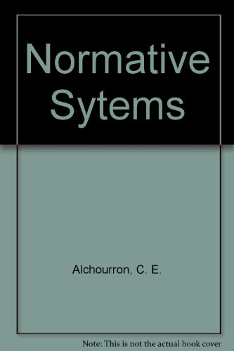 9780387810195: Normative Sytems (Library of exact philosophy)