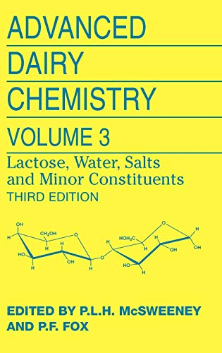 9780387848648: Advanced Dairy Chemistry: Volume 3: Lactose, Water, Salts and Minor Constituents