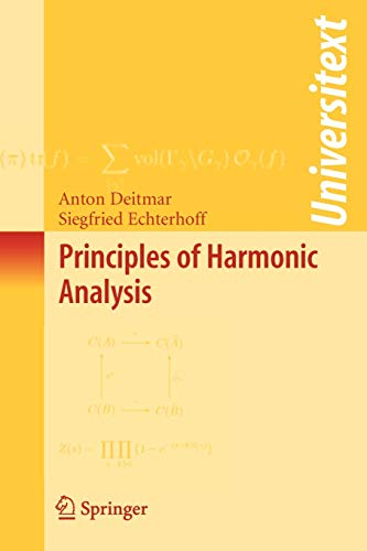 9780387854687: Principles of Harmonic Analysis