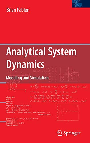 9780387856049: Analytical System Dynamics: Modeling and Simulation